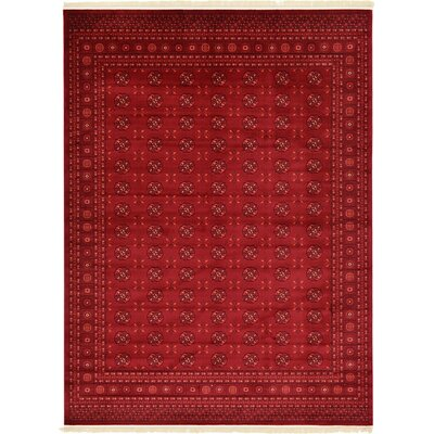 Kowloon Dark Red Area Rug Rug Size: 7 x 10