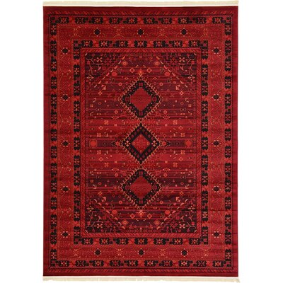 Kowloon Red Area Rug Rug Size: 8 x 11