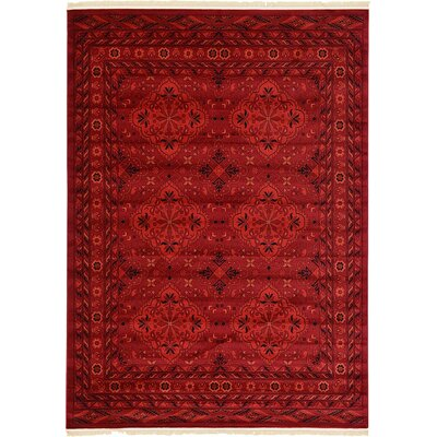 Kowloon Red Area Rug Rug Size: Rectangle 5 x 8