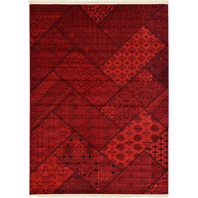 Ivette Traditional Red Area Rug Rug Size: 7 x 10