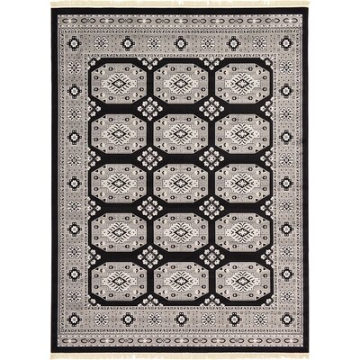 Ivette Black Area Rug Rug Size: Rectangle 5 x 8