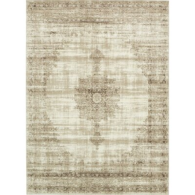 Miara Cream Area Rug Rug Size: Square 6
