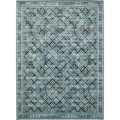Miara Dark Blue Area Rug Rug Size: Rectangle 102 x 135