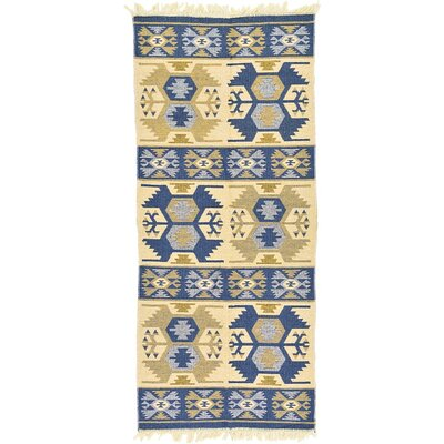 St Lawrence Navy Blue Area Rug Rug Size: Runner 28 x 94