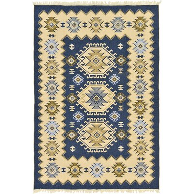 St Lawrence Navy Blue Area Rug Rug Size: 66 x 97