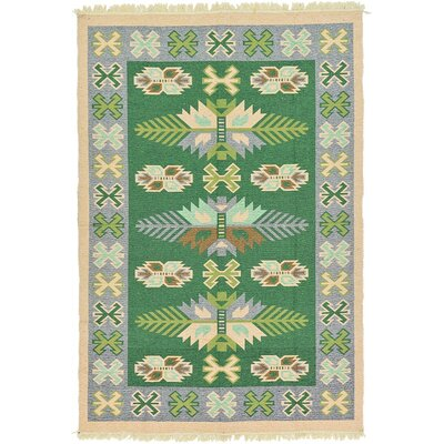 St Lawrence Green Area Rug Rug Size: Runner 28 x 98