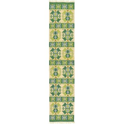 St Lawrence Green Area Rug Rug Size: Runner 29 x 128