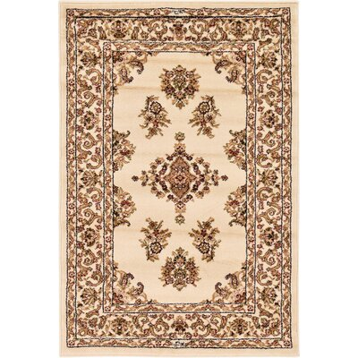 Jazlyn Cream Area Rug Rug Size: Rectangle 33 x 5