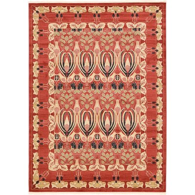 Sebou Rust Red Area Rug Rug Size: 5 x 8