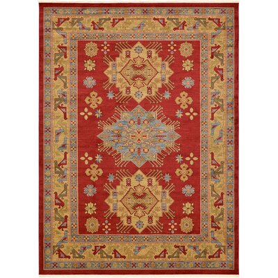 Sina Red Area Rug Rug Size: 910 x 13