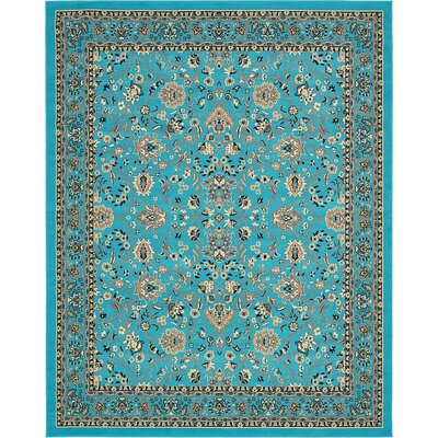 Southern Turquoise Area Rug Rug Size: 3 x 165