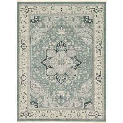 Sina Navy Blue Area Rug Rug Size: 5 x 8