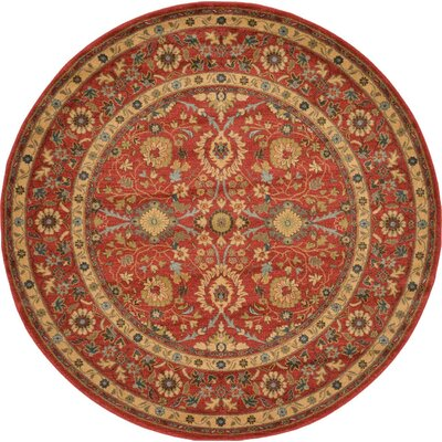 Sebou Red Area Rug Rug Size: Round 6