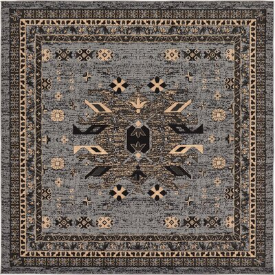 Sina Gray Area Rug Rug Size: Square 8