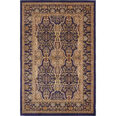 Snows Navy Blue Area Rug Rug Size: 6 x 9