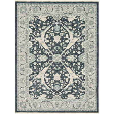 Jana Rectangle Dark Gray Area Rug Rug Size: 5 x 8