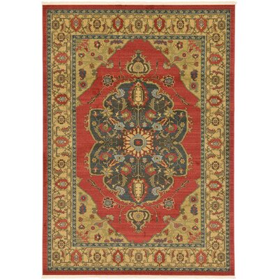 Sina Red Area Rug Rug Size: Rectangle 5 x 8