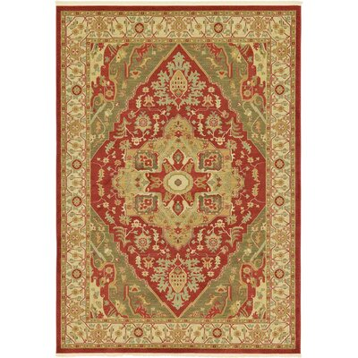 Sina Red Area Rug Rug Size: 7 x 10