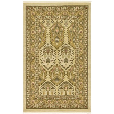 Jana Rectangle Cream Area Rug Rug Size: 5 x 8