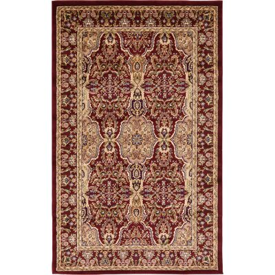 Snows Burgundy Area Rug Rug Size: Square 8