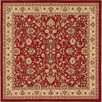 Southern Red Area Rug Rug Size: Square 8