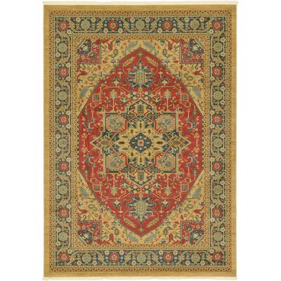 Sina Red Area Rug Rug Size: 5 x 8