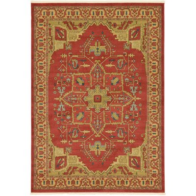 Sina Red Area Rug Rug Size: 9' x 12'