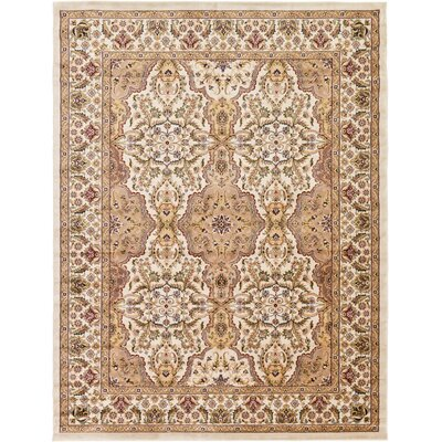 Snows Cream Area Rug Rug Size: 4 x 6