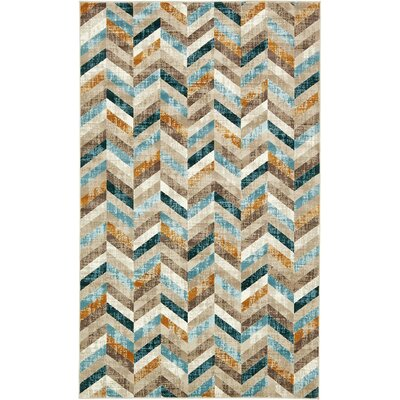 Jaxton Dark Blue Geometric Area Rug Rug Size: Rectangle 10' x 13'