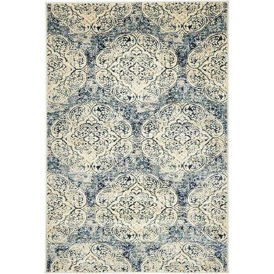 Sage Beige/Blue Area Rug Rug Size: 4 x 6