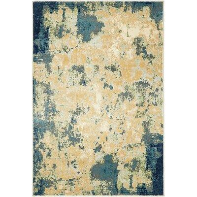 Jani Beige/Blue Area Rug Rug Size: 9 x 12