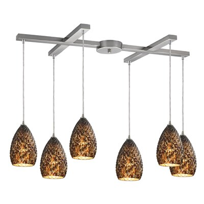 Fatouaki 6-Light Kitchen Island Pendant
