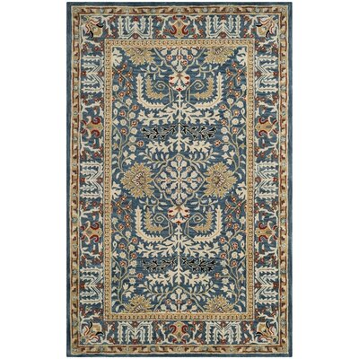 Genemuiden Hand-Tufted Dark Blue Area Rug Rug Size: Rectangle 2 x 3