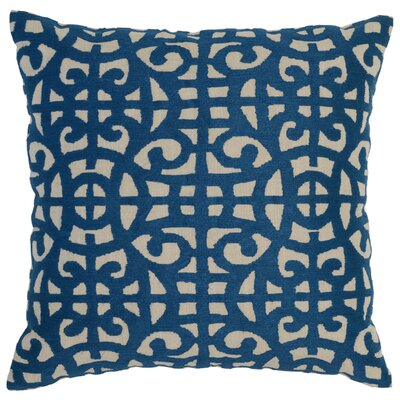 Utrecht Cotton Throw Pillow Color: Blue