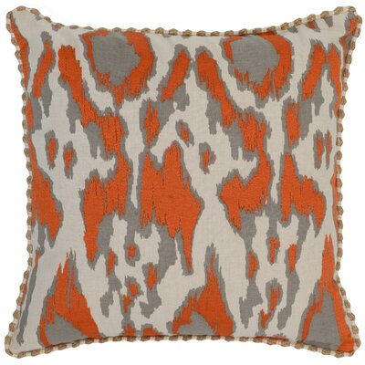 Waho Throw Pillow Color: Orange