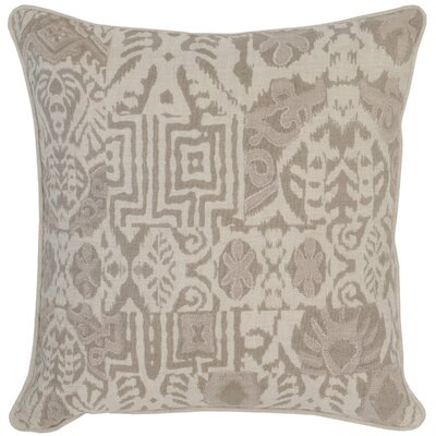 Barbara Linen Throw Pillow Color: Green