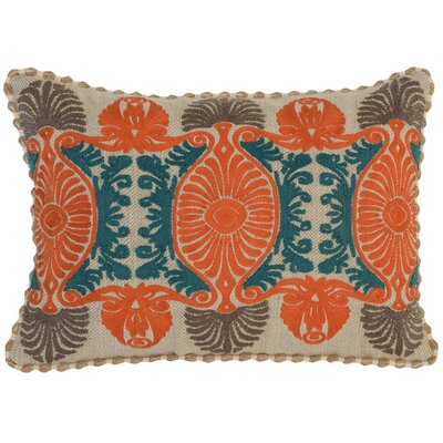 Elida Lumbar Pillow Color: Orange/Green/Taupe