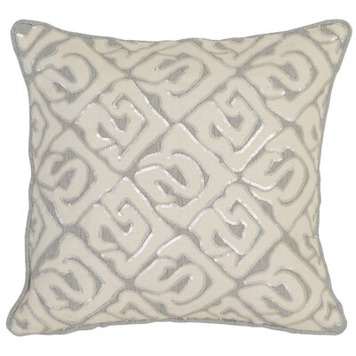 Serta Throw Pillow Color: Gray/Ivory