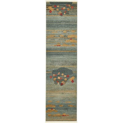 Jan Gray/Yellow Area Rug Rug Size: 7 x 10