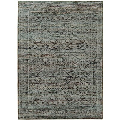Rosalia Distressed Blue/Purple Area Rug Rug Size: 52 x 76