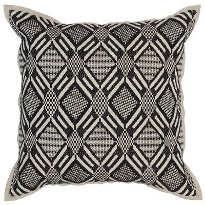 Montfort Cotton Throw Pillow Color: Black/Ivory