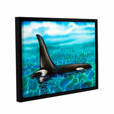 'Orca' Framed Painting Print on Wrapped Canvas Size: 14