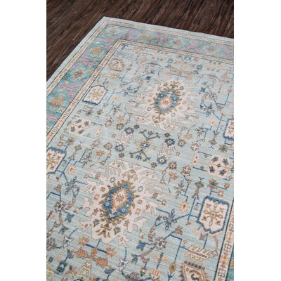 Victoria Light blue Area Rug Rug Size: Rectangle 8 x 102
