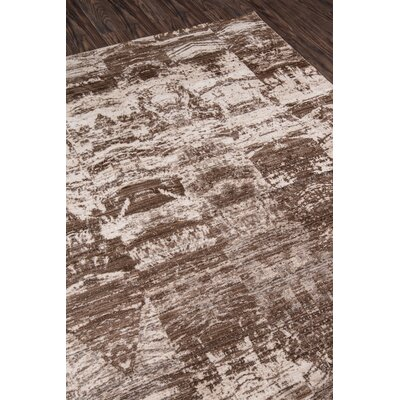 Victoria Brown/White Area Rug Rug Size: 8 x 102