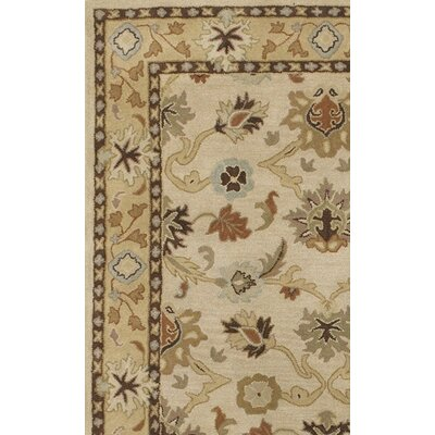 Keefer Hand-Woven Wool Beige/Tan Area Rug Rug Size: Oval 8 x 10