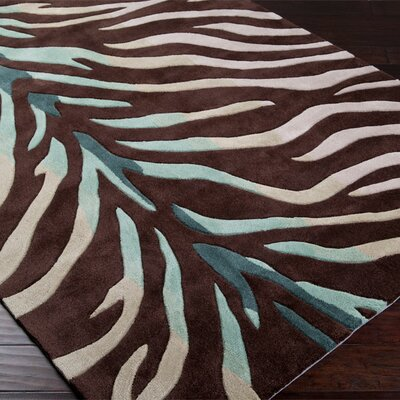 Callum Chocolate/Sage Rug Rug Size: Rectangle 2 x 3
