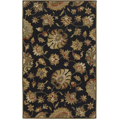 Keefer Black Area Rug Rug Size: 2 x 4