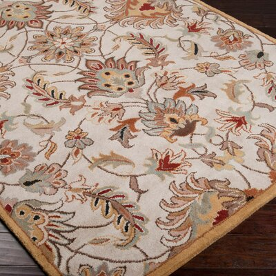 Keefer Gold Area Rug Rug Size: 5 x 8