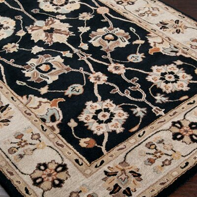 Topaz Coal Black Area Rug Rug Size: Square 6