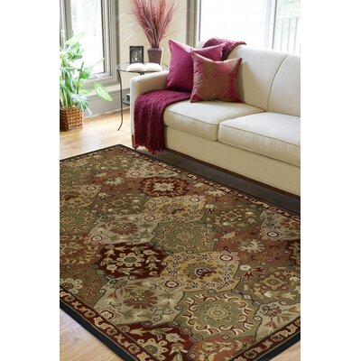 Topaz Red/Olive Area Rug Rug Size: Square 4